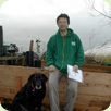 Cary Ransome (with Laru), plantsman extraordinaire and the new nursery's first retail manager